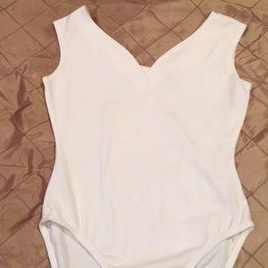 The Limited White bodysuit, cotton blend, M